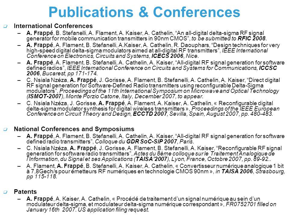 Publications & Conferences