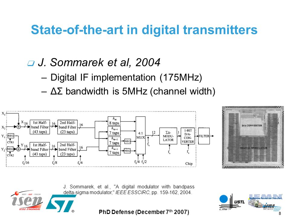 State-of-the-art in digital transmitters