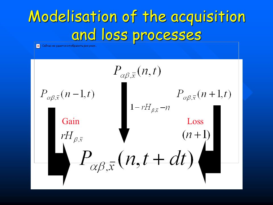 Modelisation of the acquisition and loss processes