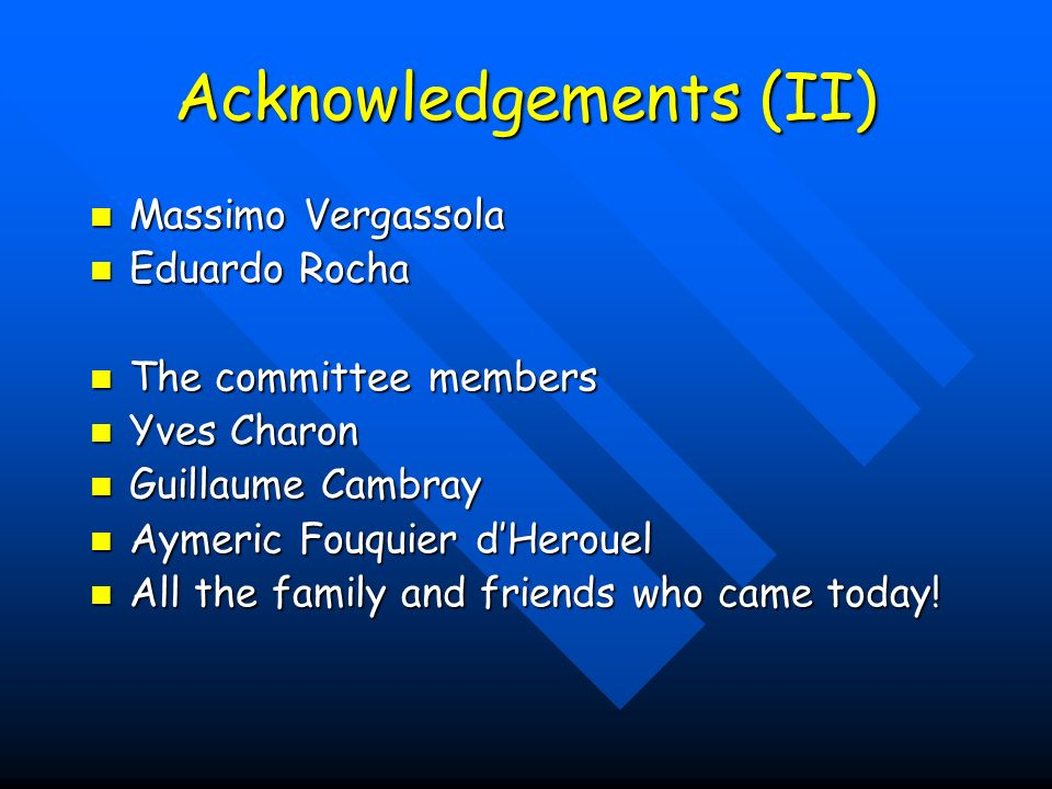 Acknowledgements (II)