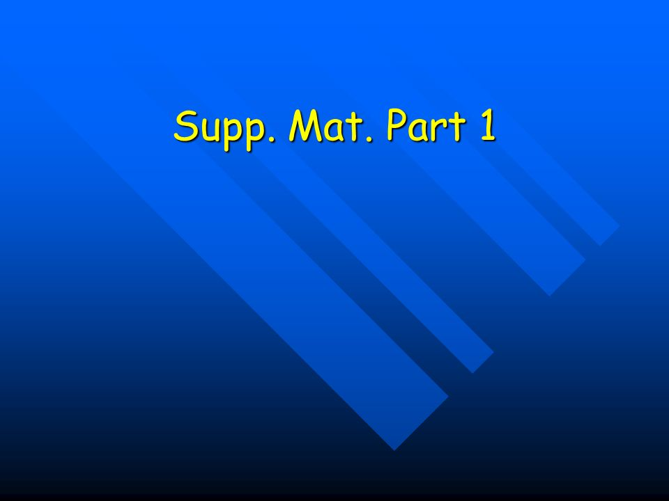 Supp. Mat. Part 1