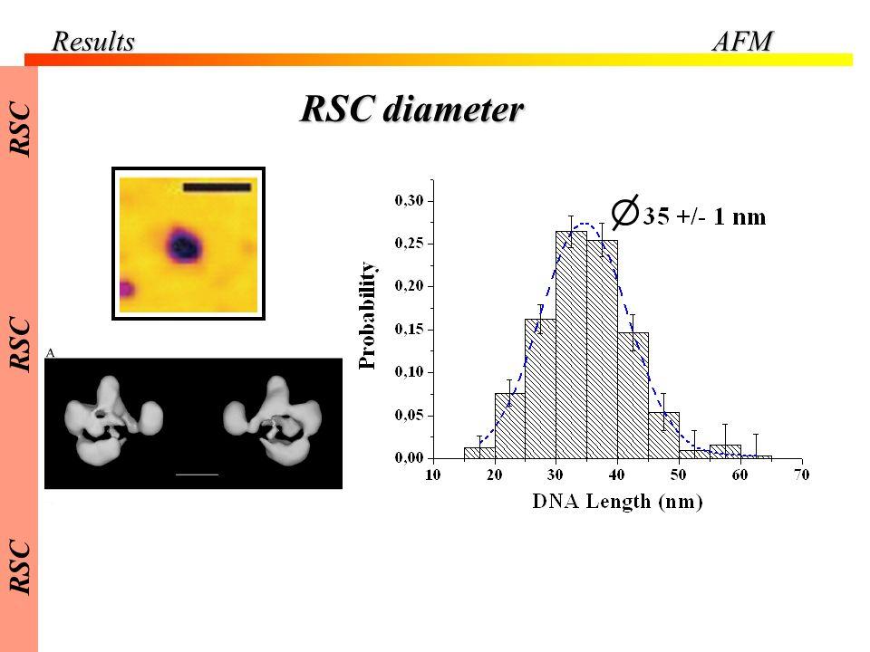 Results AFM RSC RSC diameter