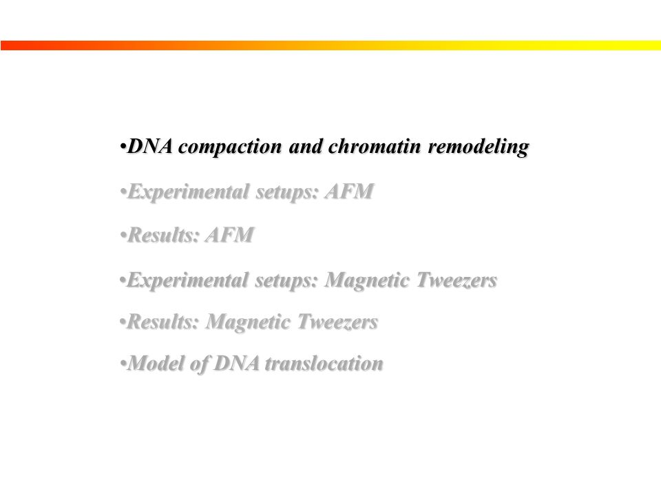 DNA compaction and chromatin remodeling