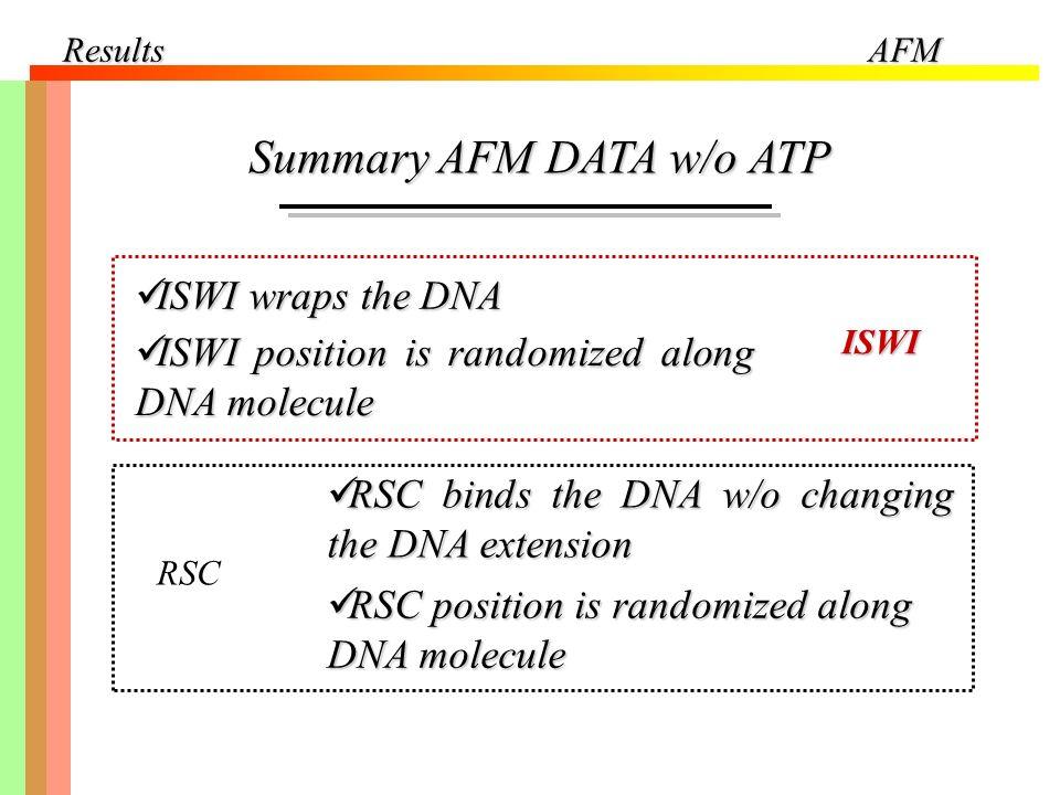 Summary AFM DATA w/o ATP