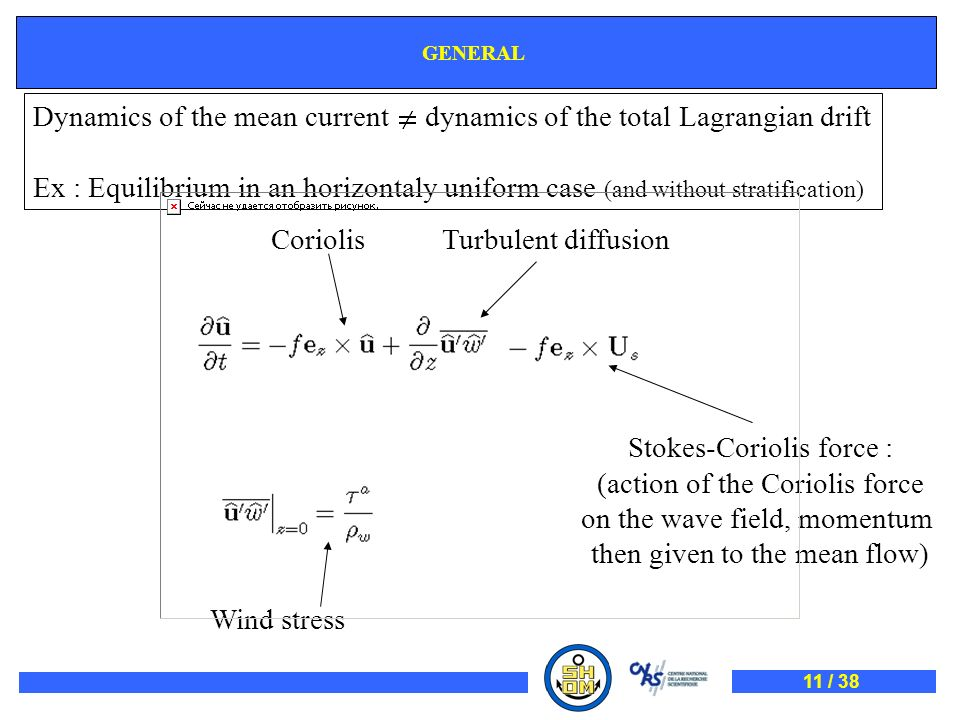 Dynamics of the mean current dynamics of the total Lagrangian drift