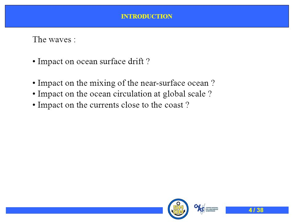 Impact on ocean surface drift