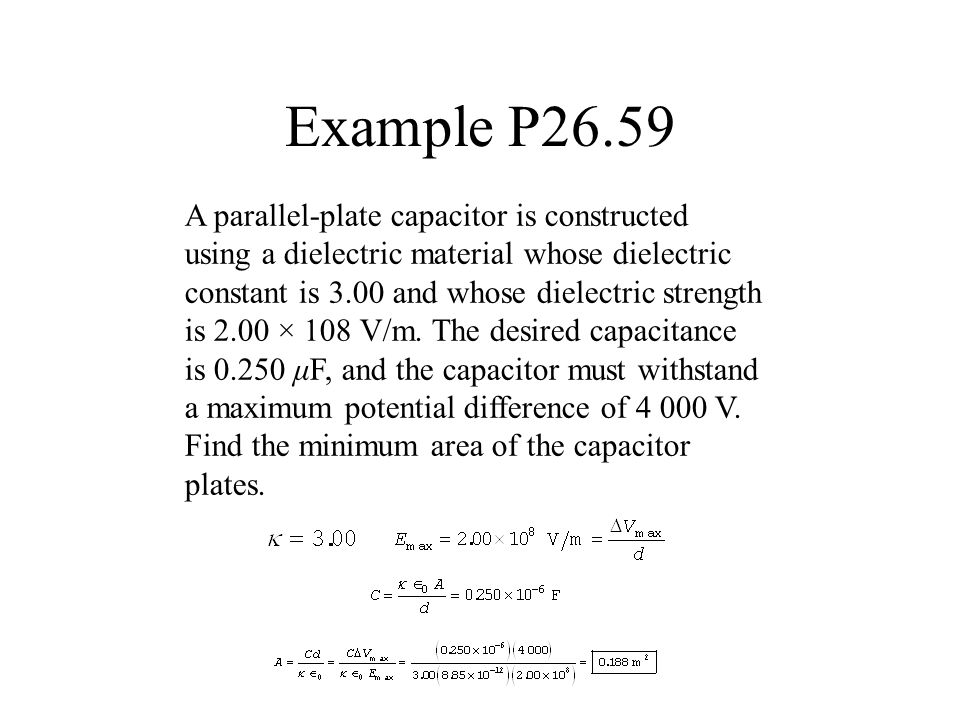 how to find the capacitance of 2 dieletrics