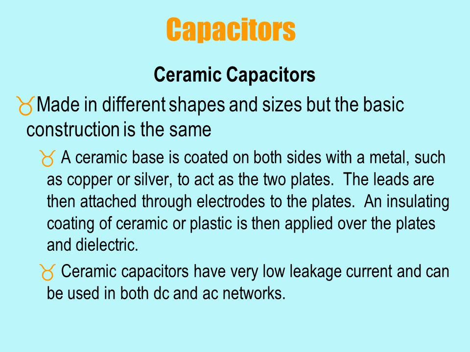 Capacitors Ceramic Capacitors