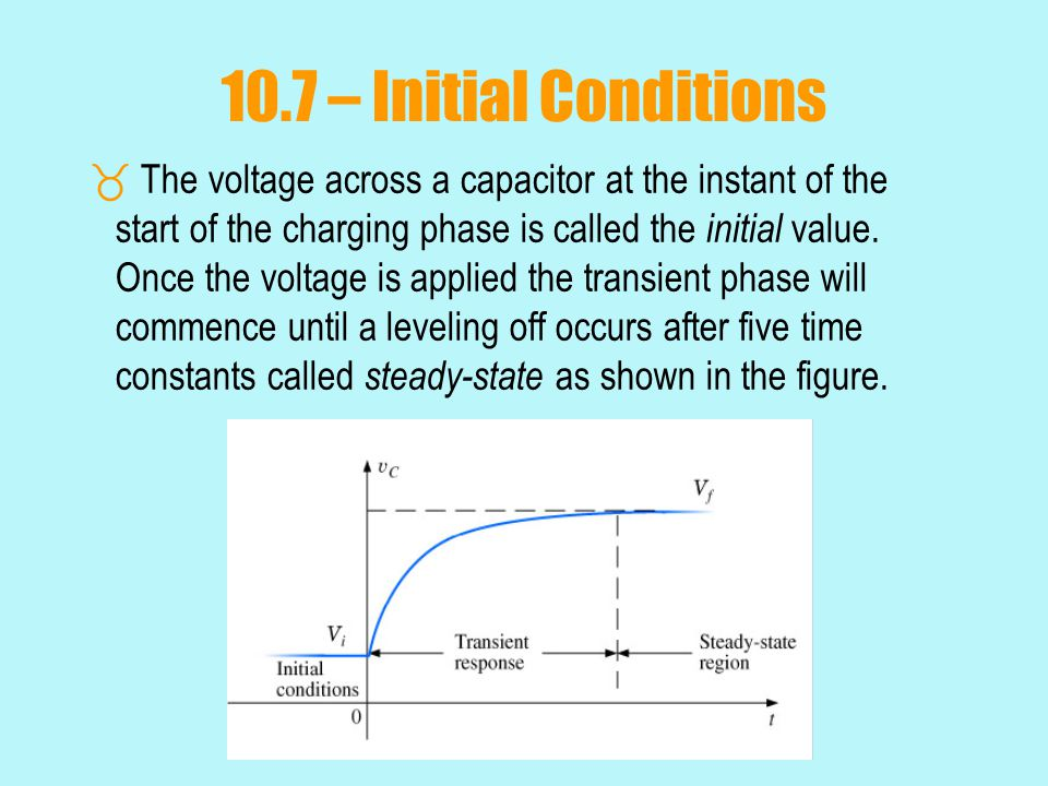 10.7 – Initial Conditions