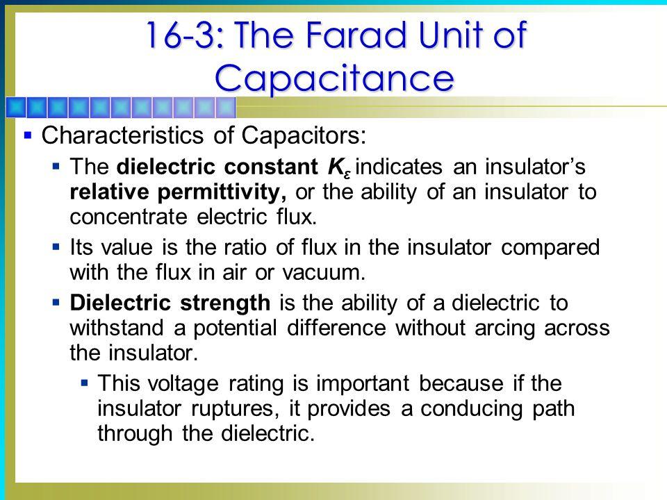 16-3: The Farad Unit of Capacitance