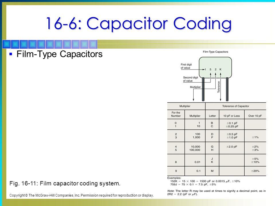 16-6: Capacitor Coding Film-Type Capacitors