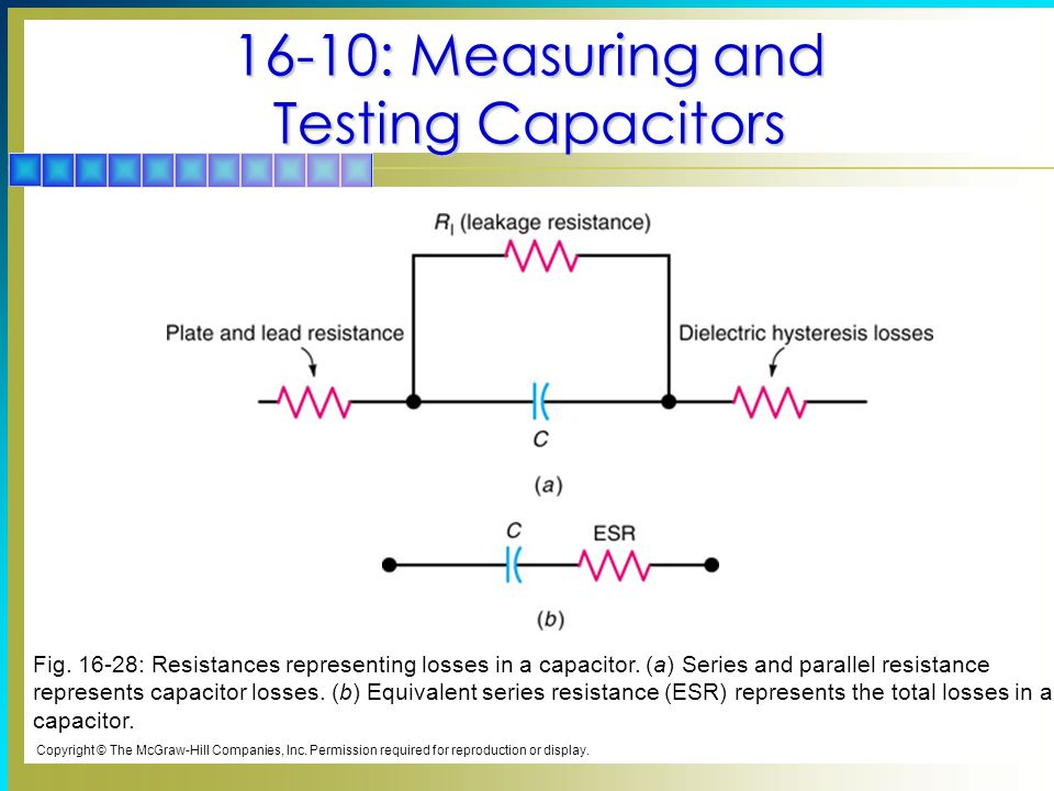 16-10: Measuring and Testing Capacitors