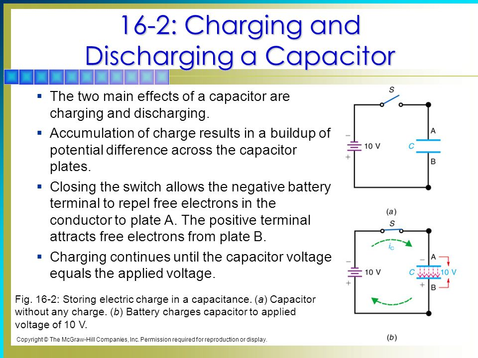 16-2: Charging and Discharging a Capacitor