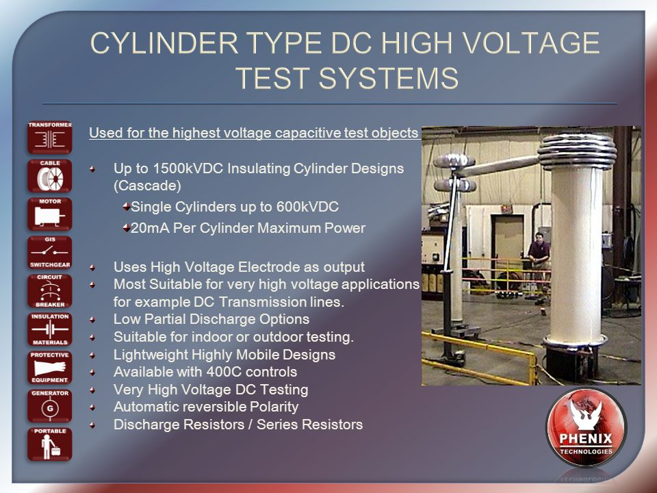 High Voltage Testing : Dielectric systems overview international sales meeting