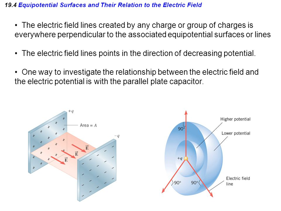 equipotential lines and electric field relationship quizzes