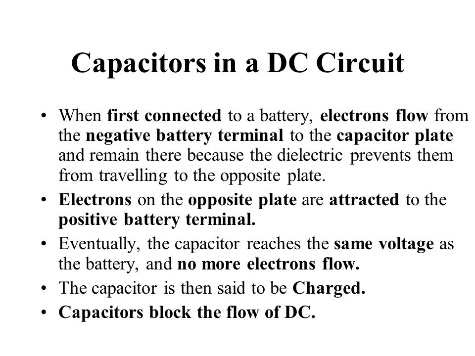Capacitors in a DC Circuit