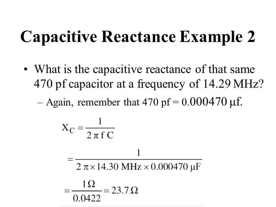 Capacitive Reactance Example 2