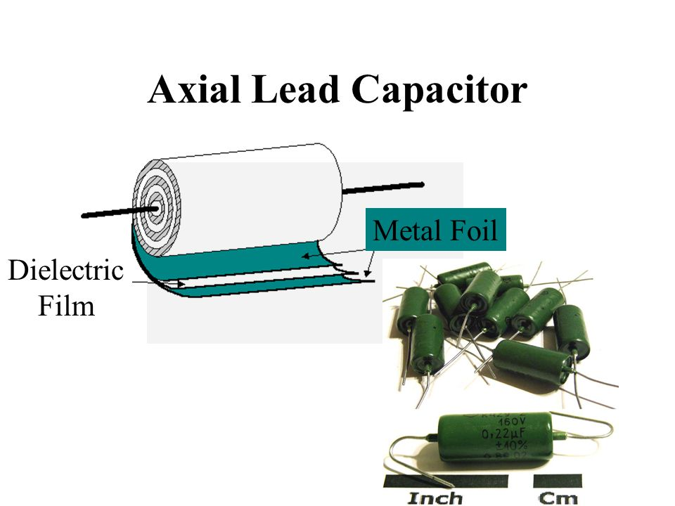 Axial Lead Capacitor Metal Foil Dielectric Film