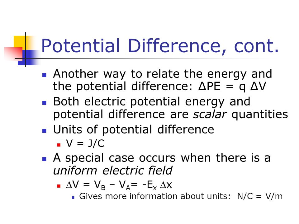 how to find potential difference
