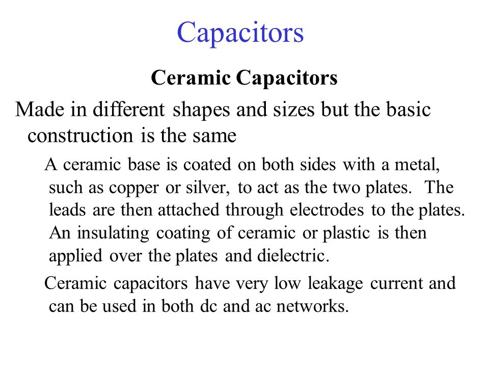 Capacitors Ceramic Capacitors