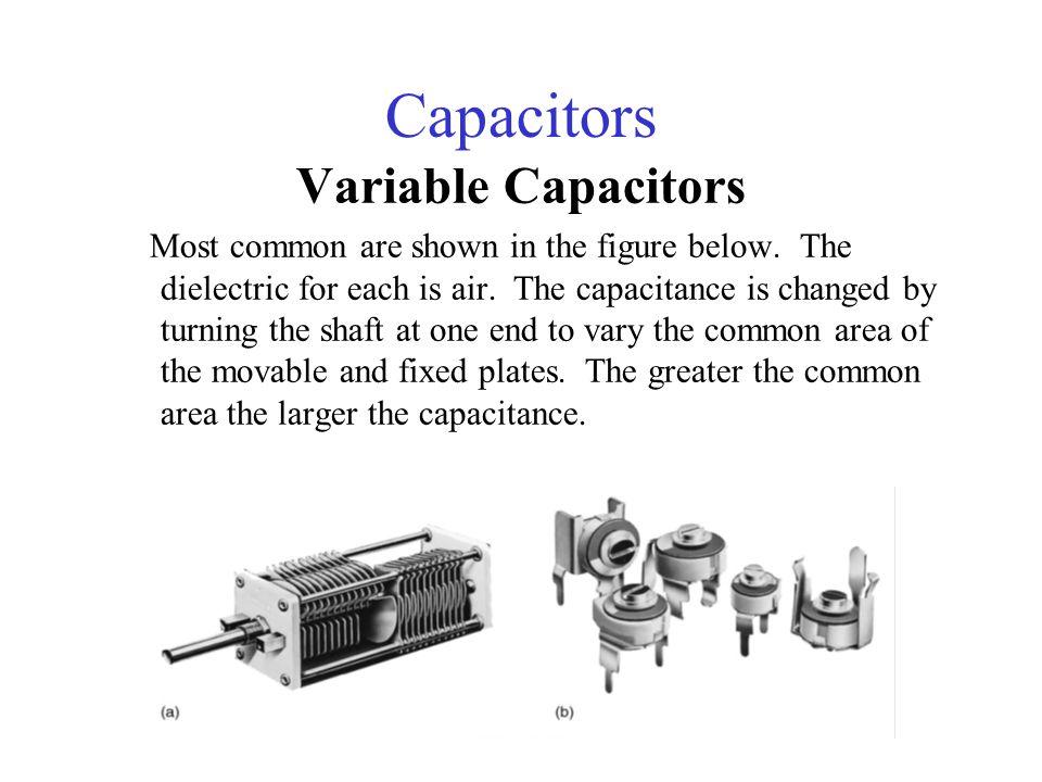 Capacitors Variable Capacitors