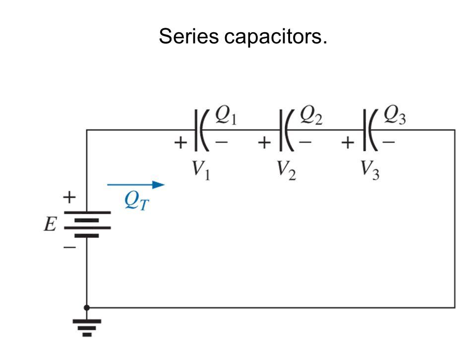 Series capacitors.