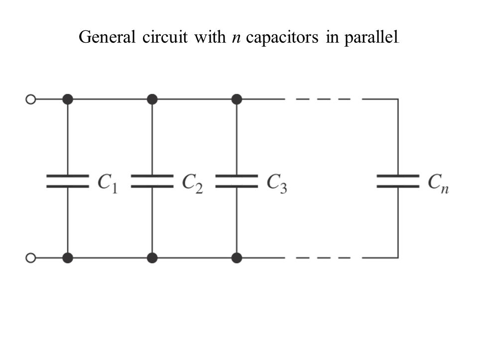 General circuit with n capacitors in parallel.
