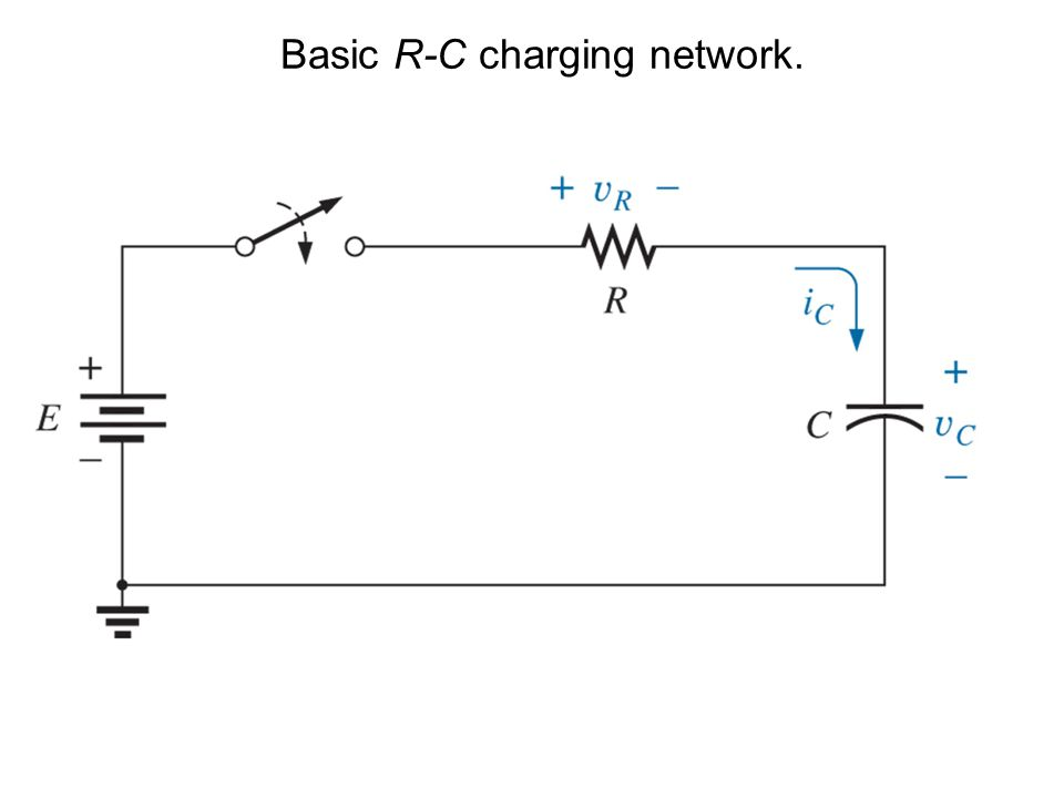 Basic R-C charging network.