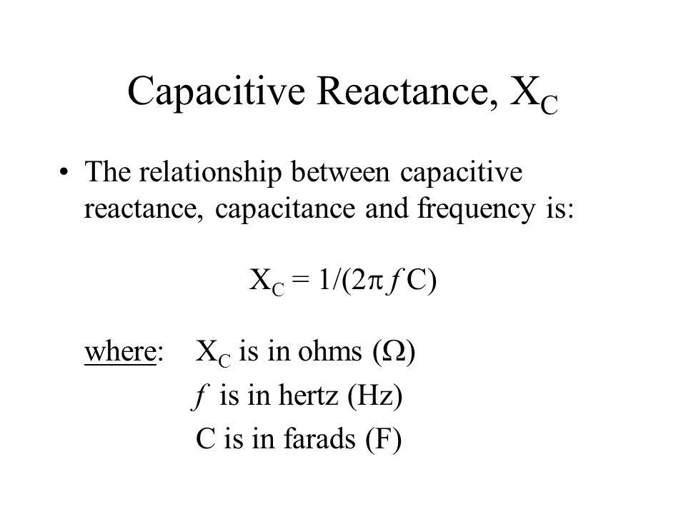 Capacitive Reactance, XC