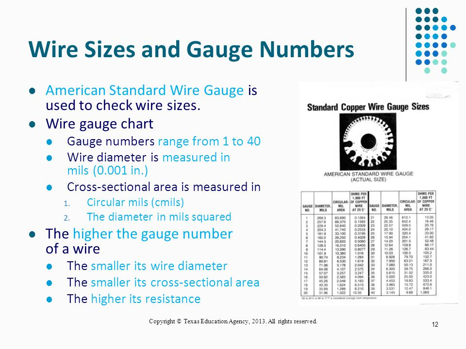 Conductors and insulators ppt video online download wire sizes and gauge numbers keyboard keysfo Images