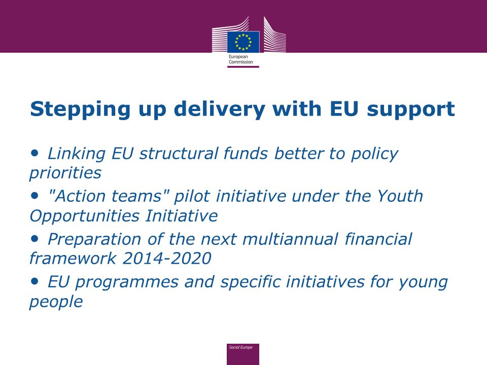 Stepping up delivery with EU support