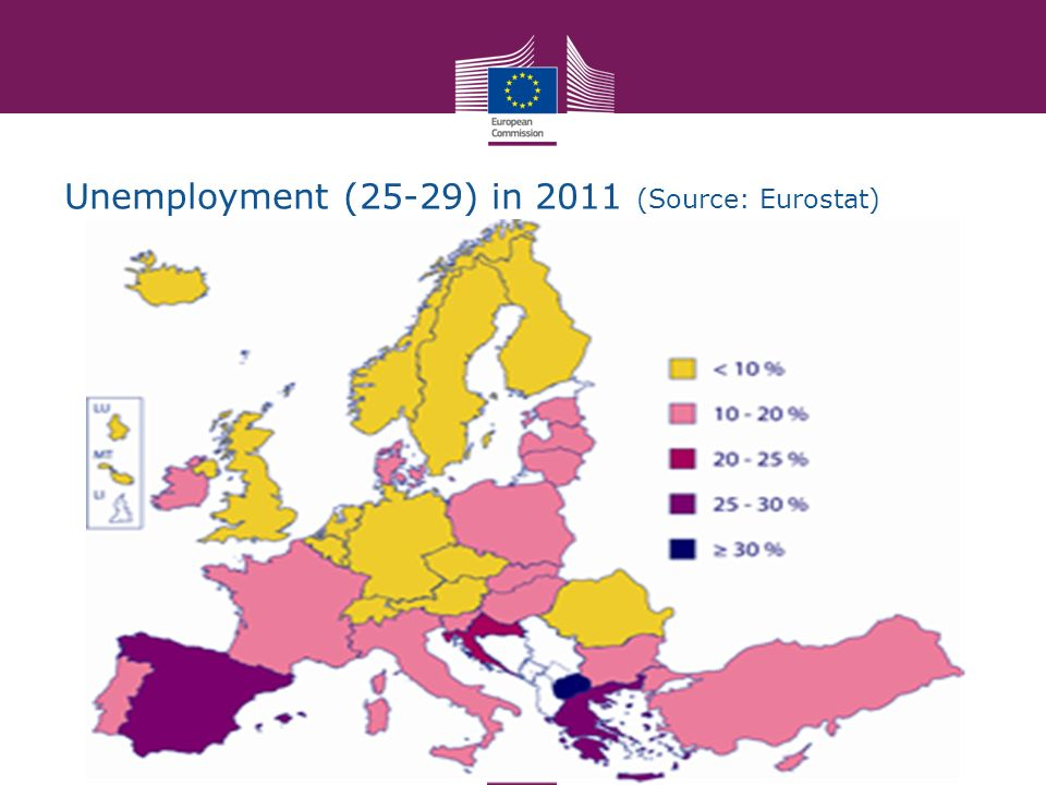 Unemployment (25-29) in 2011 (Source: Eurostat)
