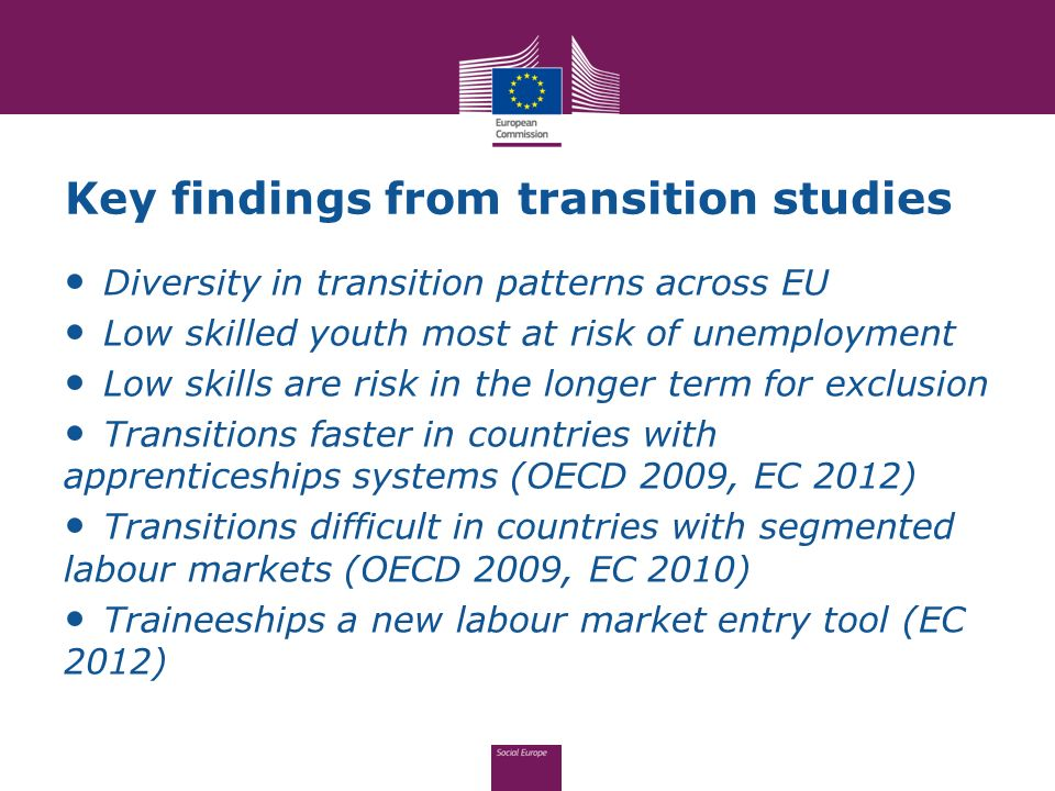 Key findings from transition studies
