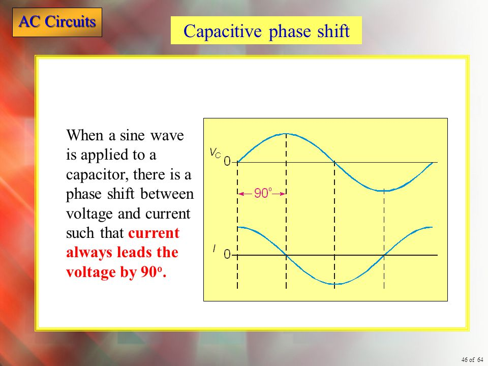 Capacitive phase shift
