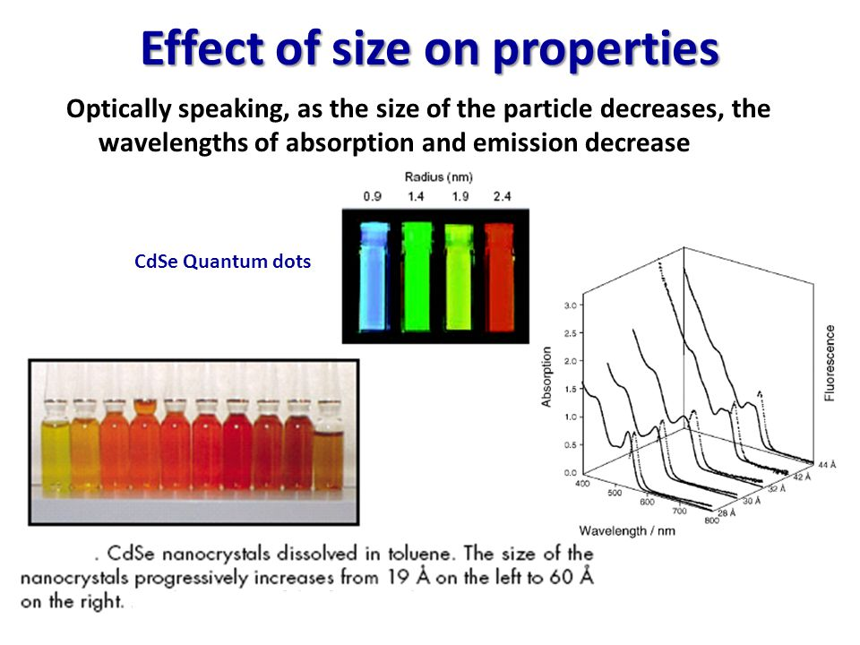 Effect of size on properties