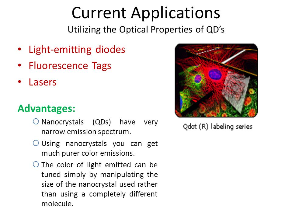 Current Applications Utilizing the Optical Properties of QD's