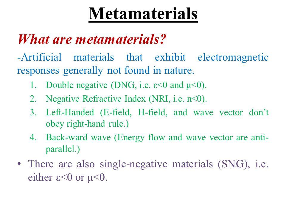 Metamaterials What are metamaterials