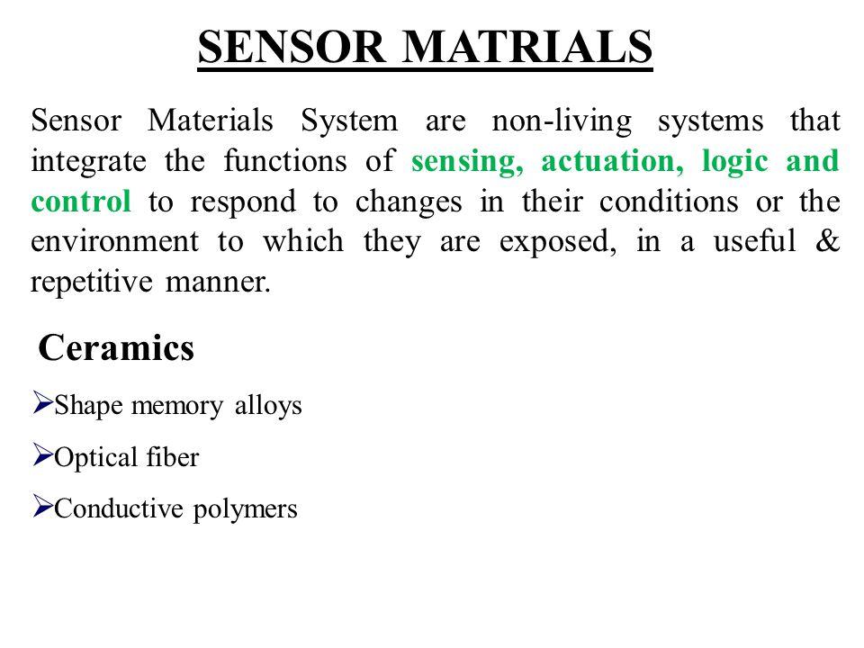 SENSOR MATRIALS