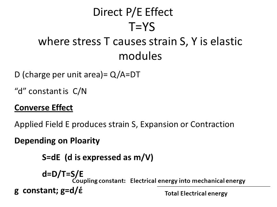 where stress T causes strain S, Y is elastic modules