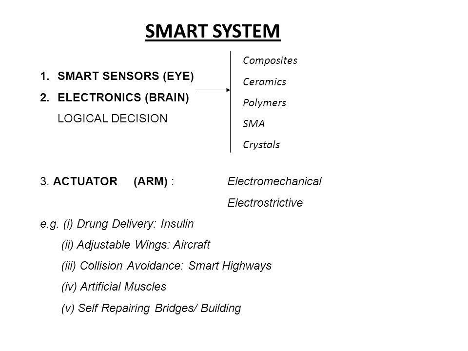 SMART SYSTEM Composites Ceramics SMART SENSORS (EYE) Polymers