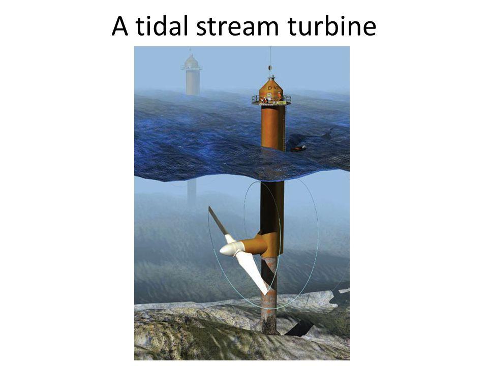 A tidal stream turbine