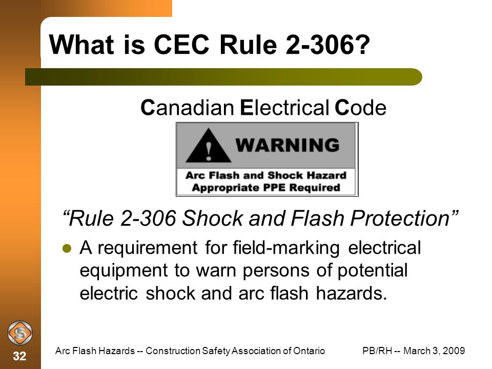 Electrical: Canadian Electrical Code
