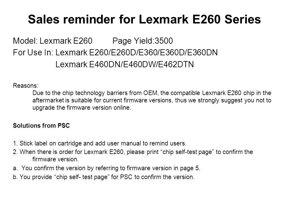 Lexmark e360dn 900. 43 firmware error.