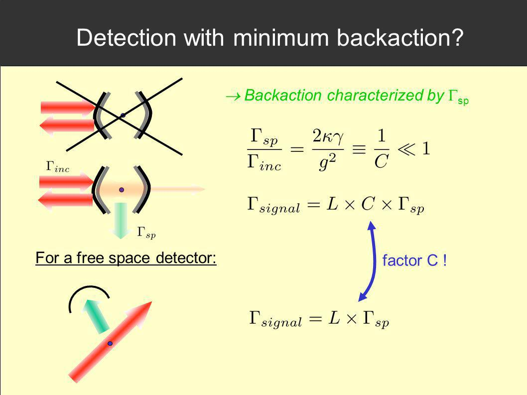 Detection with minimum backaction
