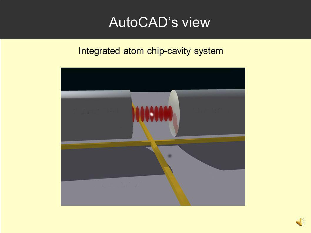 AutoCAD's view Integrated atom chip-cavity system