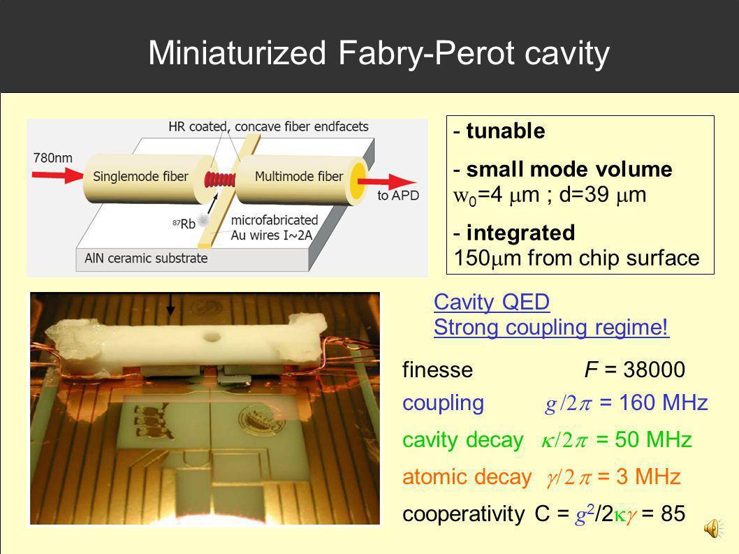Miniaturized Fabry-Perot cavity