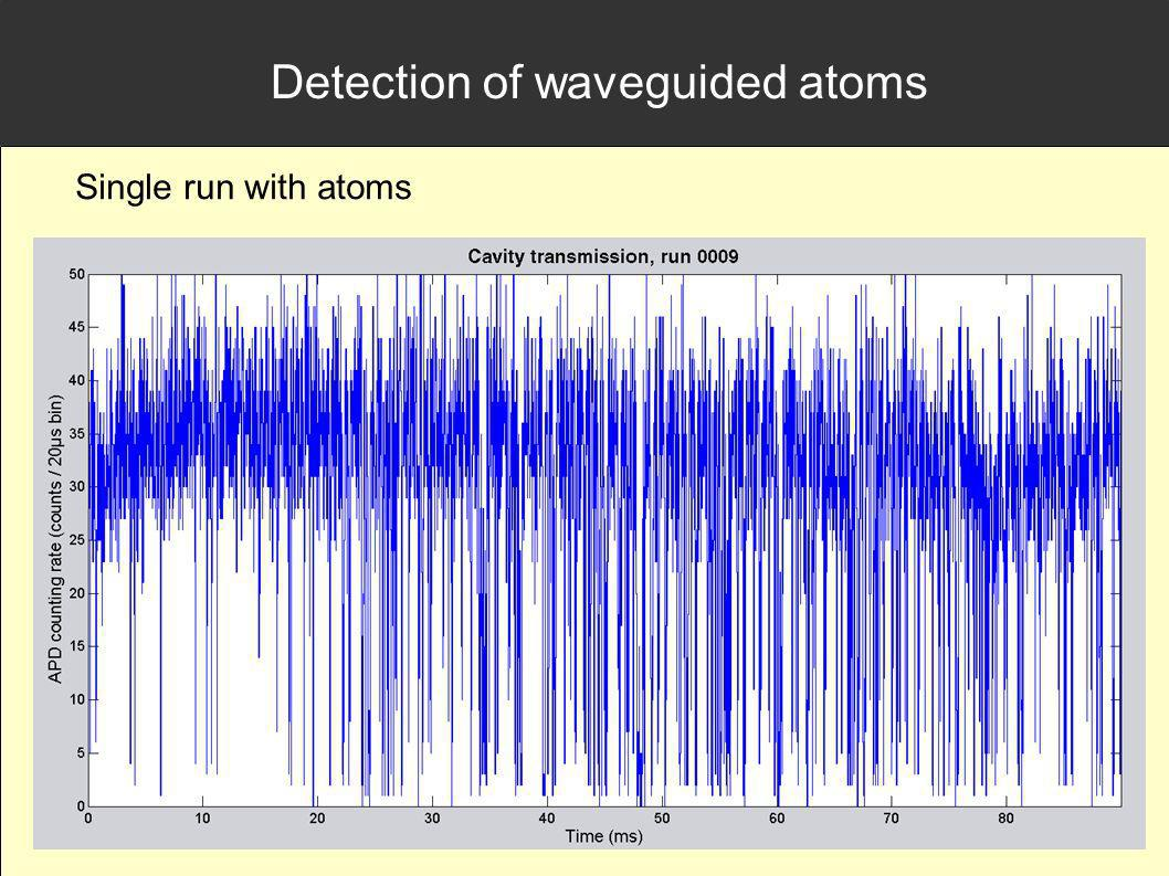 Detection of waveguided atoms