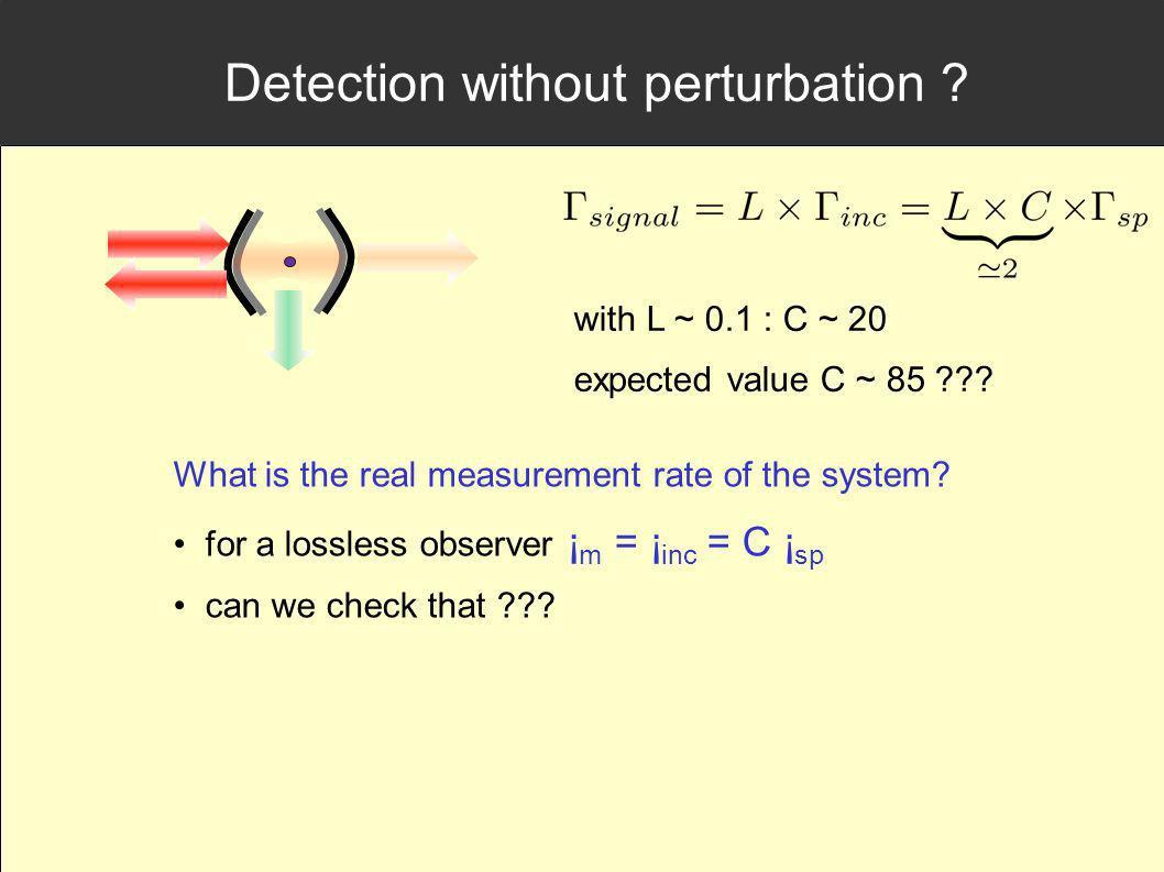 Detection without perturbation