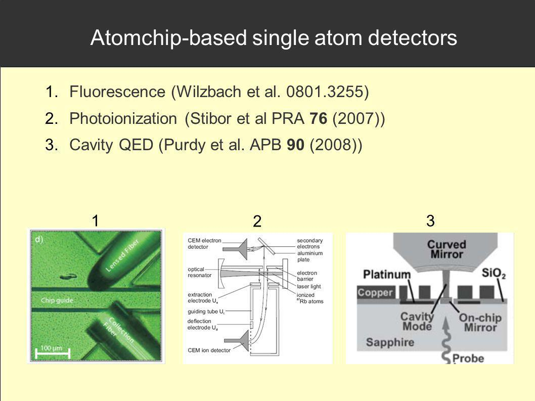 Atomchip-based single atom detectors