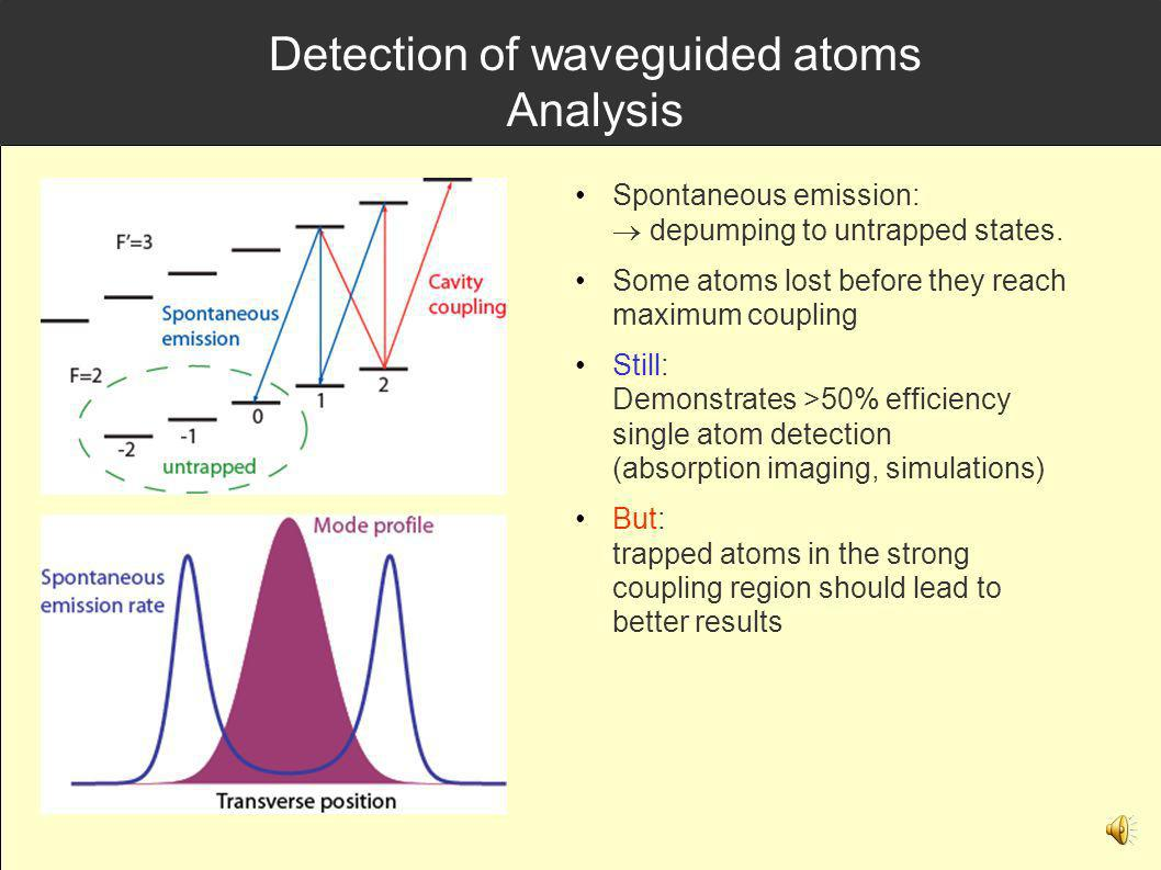 Detection of waveguided atoms Analysis